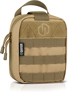 Savior Equipment Tactical Rip-Away Medical IFAK First-Aid Kit MOLLE Pouch Multi-Purpose EDC Tool Utility Organizer Attach ...