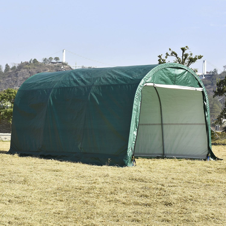 HUIJK Storage Sheds 10x15 FT Sacramento Mall Canopy Shed Car Tent O Carport Yard Limited price sale