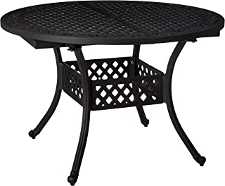 Christopher Knight Home Stannis Outdoor Expandable Aluminum Dining Table (Black Sand)