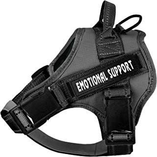 voopet Service Dog Harness, No-Pull Emotional Support Pet Vest Harness, Reflective Breathable and Adjustable Pet Halters f...