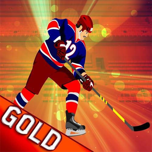 Eis-Hockey Klinge: der Winter Powerplay Schuss Puck Herausforderung - Gold Edition