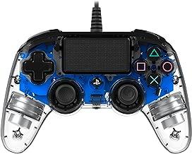 Nacon PS4OFCPADCLBLUE - Mando Compacto para PS4, Azul Transparente