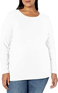 Amazon Essentials Plus Size Long-sleeve T-shirt - fashion-t-shirts Mujer