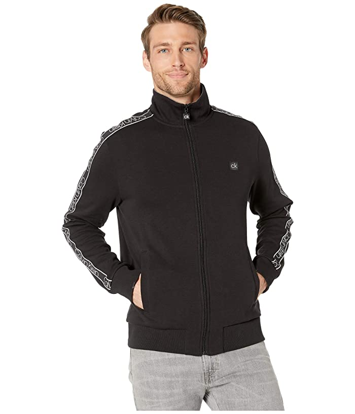 Athletic Knit Sweatshirt (Black) Men's Clothing