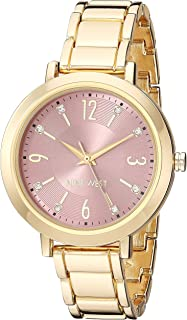 Nine West Women's Crystal Accented Bracelet Watch