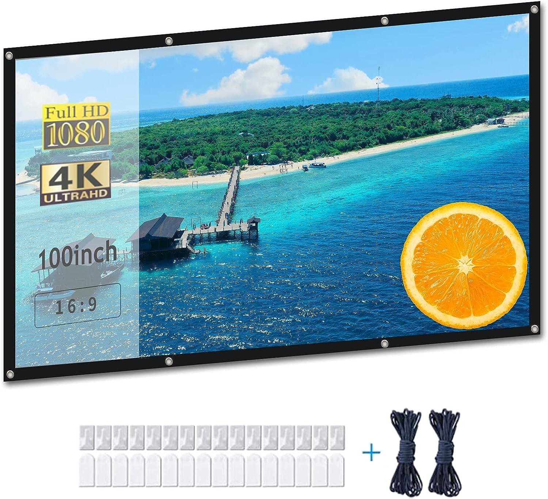 Video Projection SALENEW very popular Screens 4K Projector 100 Outdoor Screen inch Branded goods M
