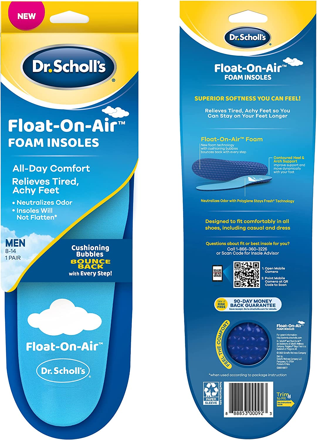 Dr. Scholl's Float-On-Air 35% OFF Insoles for Shoe That Inserts Sale SALE% OFF Men Rel