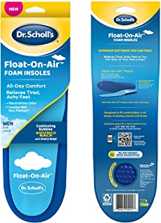 Dr. Scholl's Float-On-Air Insoles for Men, Shoe Inserts that Relieve Tired, Achy Feet with All Day Comfort