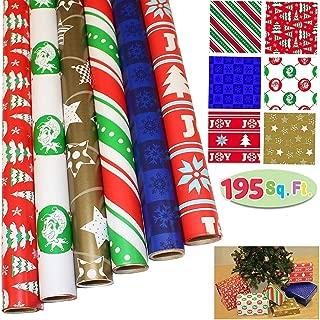 JOYIN 6 Rolls Christmas Gift Wrapping Paper (30