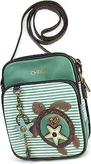 Chala Organizer Crossbody Cell Phone Purse-Women Faux Leather Multicolor Handbag with Adjustable Strap