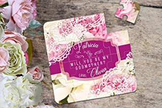 Will You Be My Godmother Puzzle Invitation Baptism Card Christening Baby Asking Godparents Puzzle Invitation