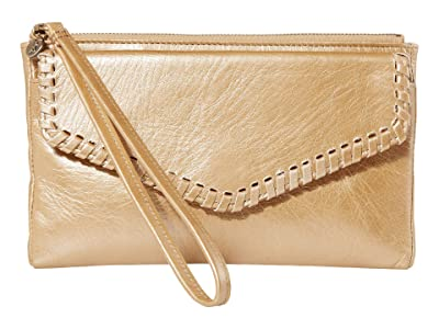 Hobo Leather Wristlet (Gold Dust) Wallet Handbags