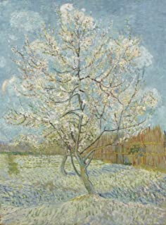 Sumilace Giclee Canvas Prints Vincent Van Gogh Famous Oil Paintings (Blooming Peach Flowers, 1888) Great Home, Office, Room - 16