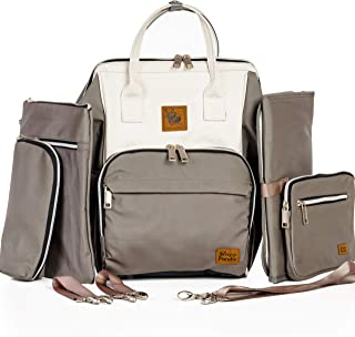 canvas backpack diaper bag
