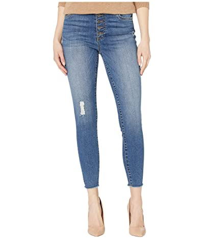 KUT from the Kloth Connie High-Rise Ankle Skinny with Exposed Button in Reinstate (Reinstate) Women