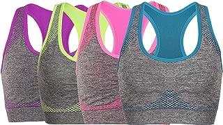 Women's Seamless Sports Bra High Impact Pocket Yoga Bras