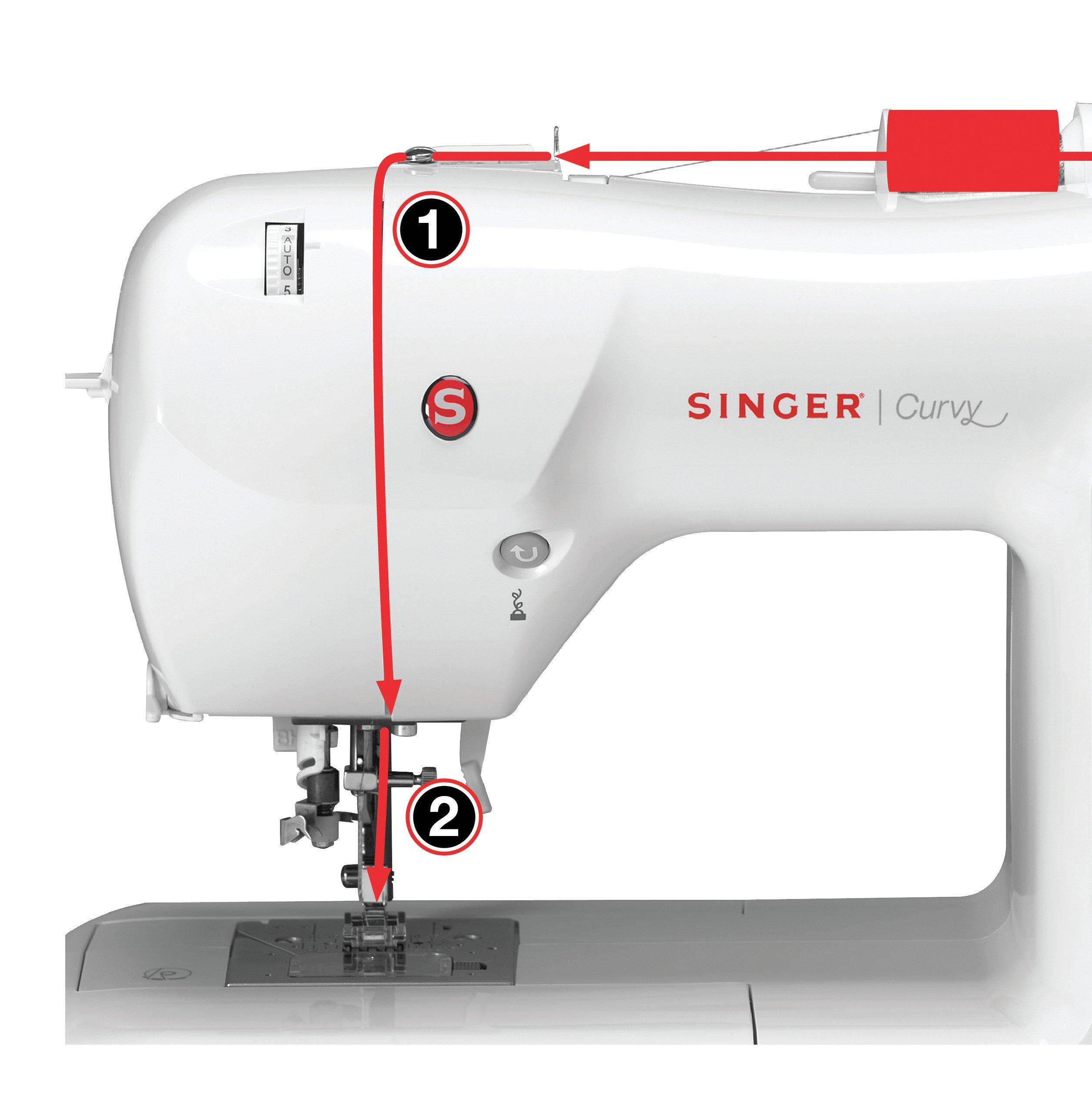 SINGER Curvy - Máquina de coser (Rosa, Blanco, Máquina de coser ...