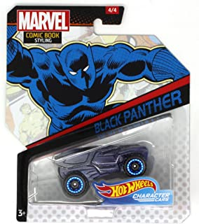 HOT Wheels Character Cars Marvel Comic Book Styling Black Panther CAR