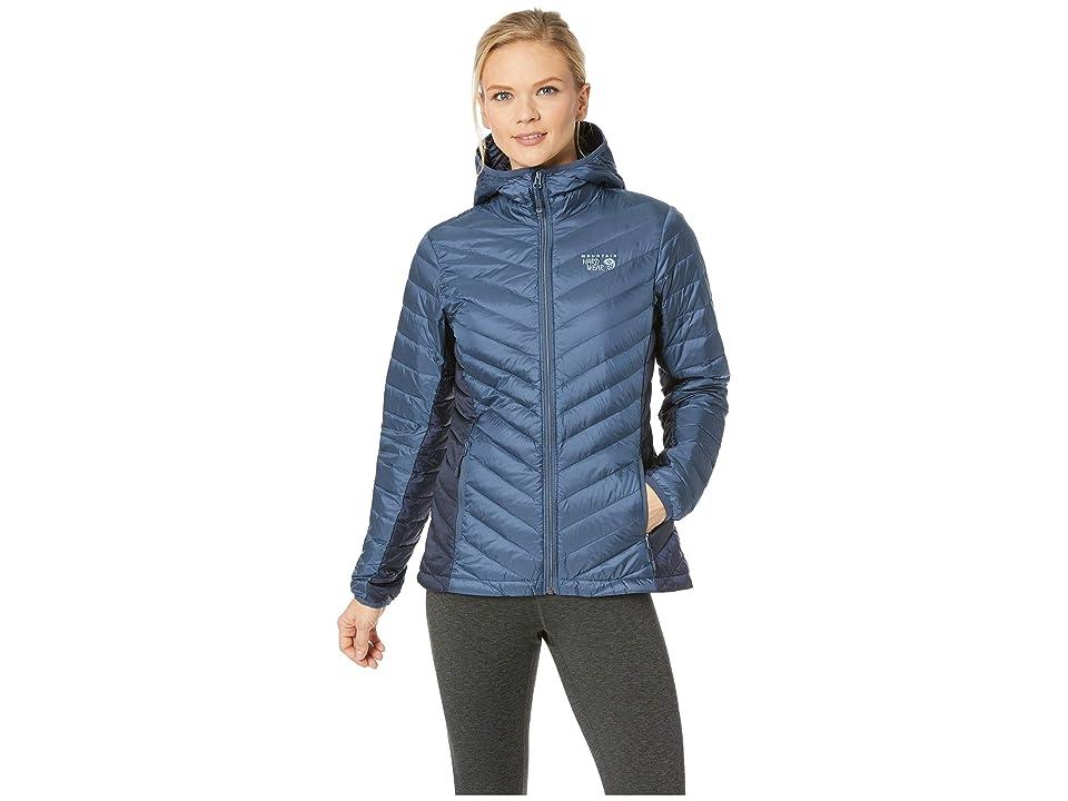 Mountain Hardwear Micro Ratio Hooded Down Jacket (Zinc) Women