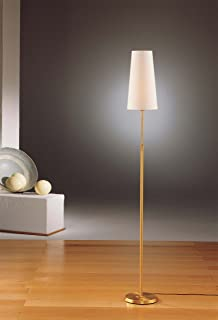 Holtkoetter 6354 HBOB SWN Incandescent Shaded Floor Lamp, Hand-Brushed Old Bronze with Satin White Narrow Shade