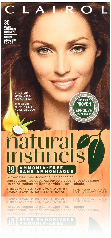 Clairol Natural Instincts Hair Color 2021 autumn and winter new Award-winning store Rosewood Dark 30 Bro Auburn