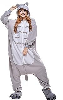 Plush One Piece Cosplay Animal Hoodie Costume S M L XL Wanziee Unisex Panda Onesie Adult Pajamas