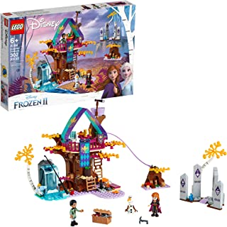 LEGO Disney Frozen II Enchanted Treehouse 41164 Toy Treehouse Building Kit featuring Anna Mini Doll and Bunny Figure for P...
