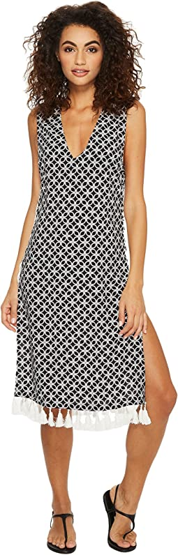 MICHAEL Michael Kors - Rope Geo Cover-Up Dress w/ Lace-Up Sides