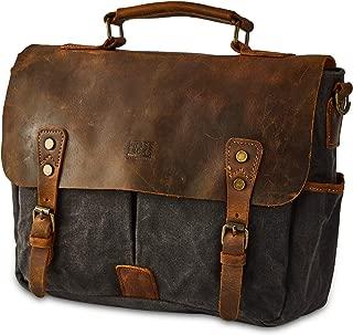 Men's Heavy Duty Canvas Genuine Leather 14