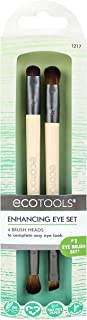 EcoTools Duo Eyeshadow Makeup Brush Set, Define Blend & Smudge, Set of 4 Brush Heads
