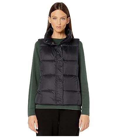 Eileen Fisher Eggshell Recycled Nylon Funnel Neck Vest (Black) Women