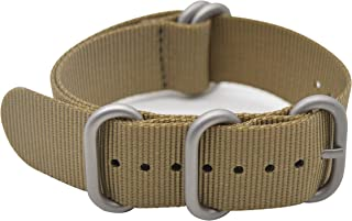 Watch Band with Colorful Nylon Material Strap and Heavy Duty Brushed Buckle