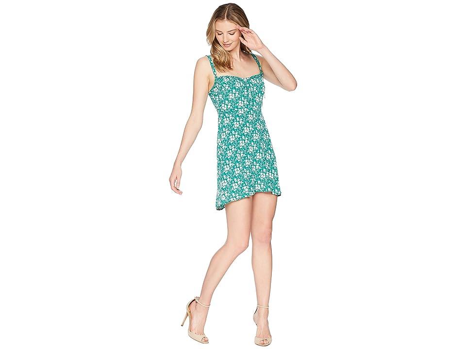 For Love and Lemons Zamira Button Front Tank Dress (Kelly) Women
