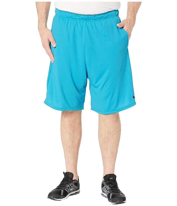 Nike Big Tall Dry Shorts 4.0 (Light Blue Fury/Black) Men