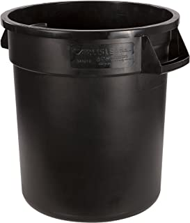 Carlisle 34101003 Bronco Round Waste Container Only, 10 Gallon, Black