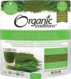 ORGANIC TRADITIONS Barley Grass Juice Powder, 150 GR