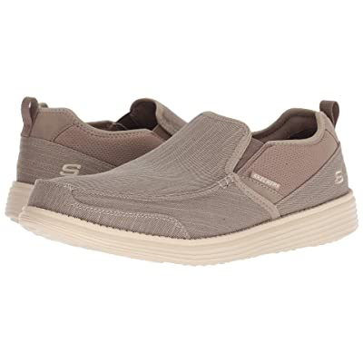 SKECHERS Relaxed Fit Status Delton (Taupe) Men