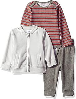 Hanes Ultimate Baby Flexy Jogger with Long Sleeve Bodysuit and Fleece Jacket