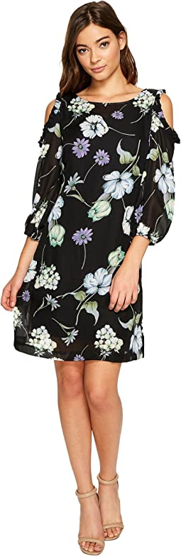 Christin Michaels - Juliet Long Sleeve Printed Dress