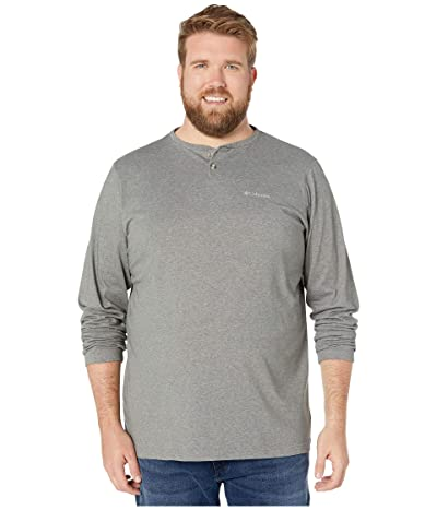 Columbia Big Tall Thistletown Parktm Henley (Charcoal Heather) Men