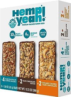 Sponsored Ad - Manitoba Harvest Hemp Yeah! Bars Variety Pack (8 Bars), 10g Plant Protein, Grain Free, Gluten Free, 6g Omeg...