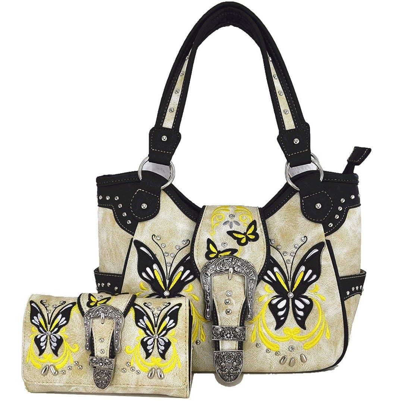 あいまいさ助けになるかき混ぜるファッション > レディース > バッグ?財布 > バッグ > ショルダーバッグ/Western Spring Butterfly Country Purse Handbag Messenger Shoulder Bag Wallet Set