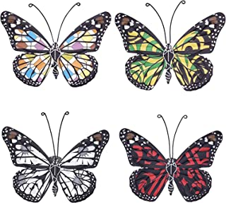 VOKPROOF Metal Butterfly Wall Decor - Butterflies Tropical Decor,Indoor and Outdoor Wall Art Decorations for Home, Room, G...