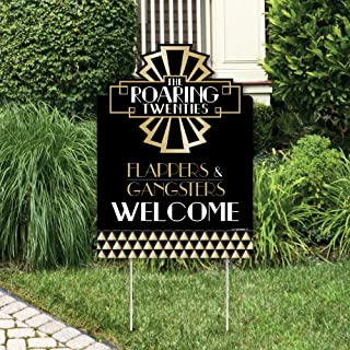 Big Dot of Happiness Roaring 20's - 2020 New Year's Eve Party Decorations - 1920s Art Deco Jazz Party Welcome Yard Sign