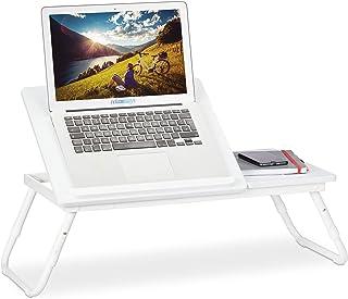 Relaxdays Stolik pod laptopa z regulacją wysokości, składany, regulowany stolik do łóżka na laptopa, śniadanie, wys. x sze...