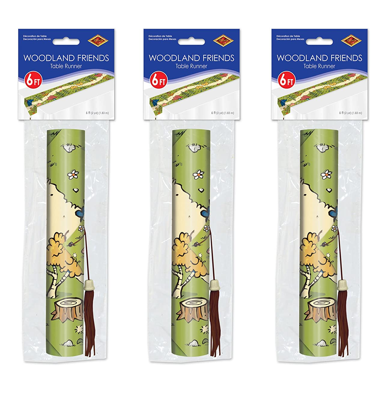 Beistle 59943 3Piece Woodland Friends Table Runners, 11