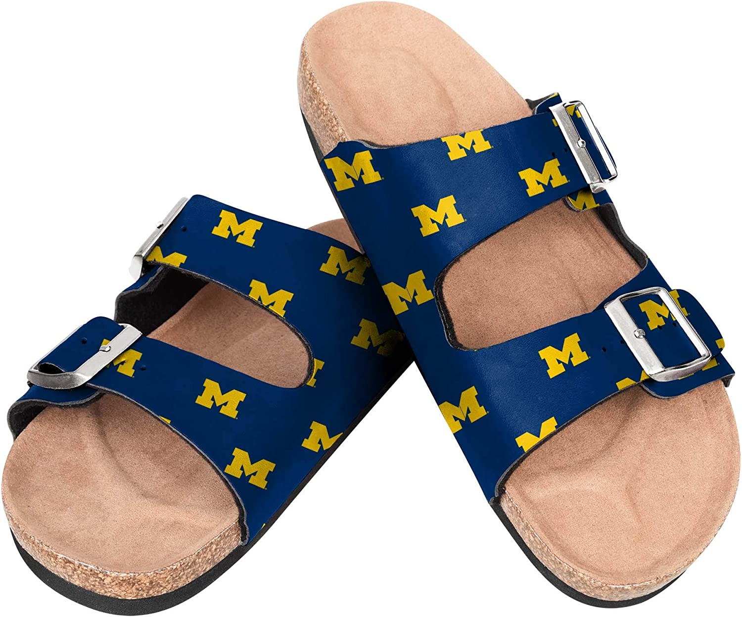 Large discharge sale Michigan Wolverines NCAA Womens Team Credence Sandal Logo Double - Buckle