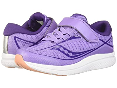 Saucony Kids Kinvara 10 A/C (Little Kid) (Purple/White) Girls Shoes