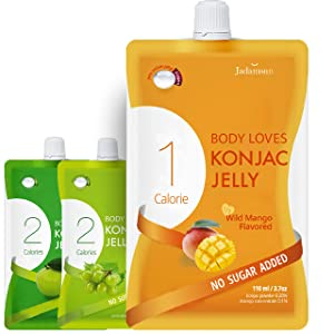 Body Loves Konjac Jelly (Mango, 10pc). Low Calorie Healthy Snack with Zero Sugar.