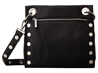 Hammitt Tony Med (Black/Silver) Handbags